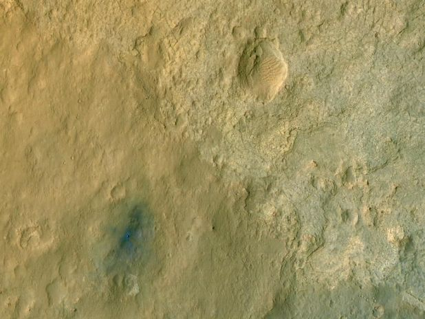 Curiosity llegando a Marte