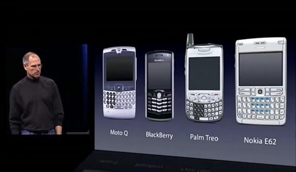 Steve Jobs / Smartphones antes de la llegada del iPhone