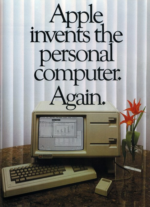 Apple Lisa cartel publicitario