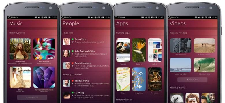 interfaz Ubuntu Phone OS
