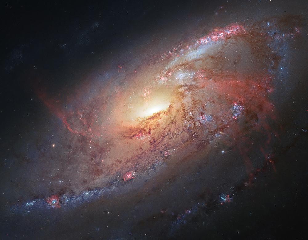 La imagen más impactante de la galaxia espiral M106
