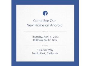 Facebook Home - Evento 4 de abril
