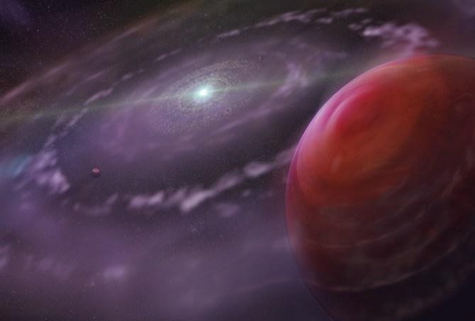 HR 8799c: agua y monóxido de carbono en la atmósfera de un exoplaneta
