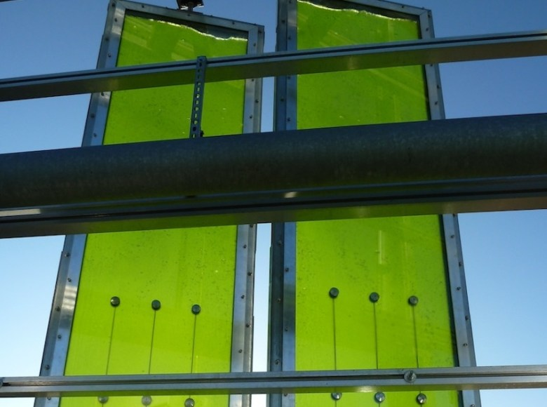 BIQ arquitectura sostenible placas de algas