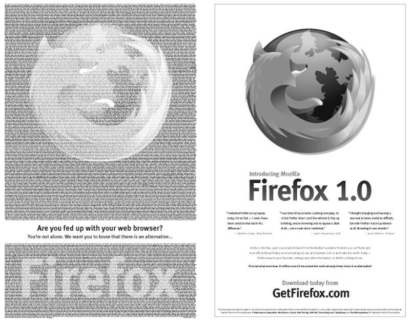 Aniversario de Mozilla: anuncio en el New York Times