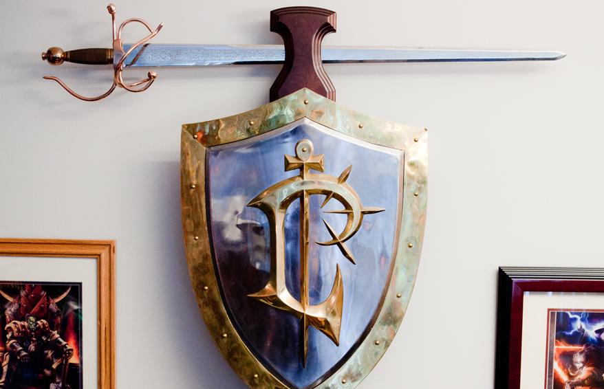 Armadura de Blizzard: espada y escudo
