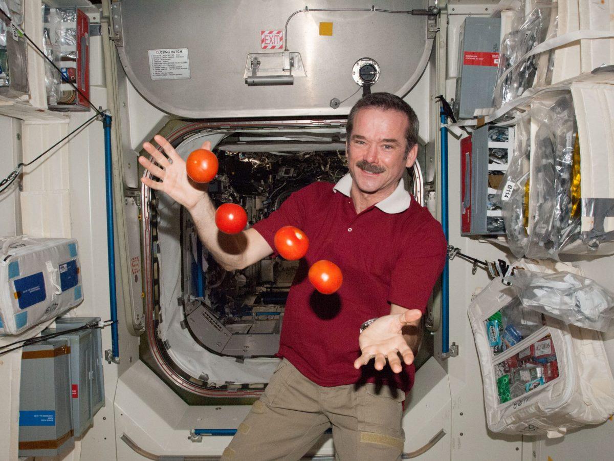 chris hadfield vida en el espacio