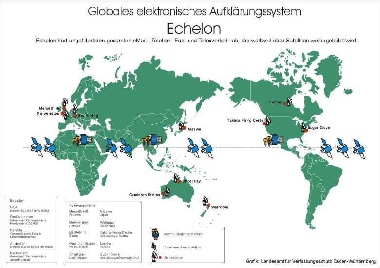 Echelon Mapa