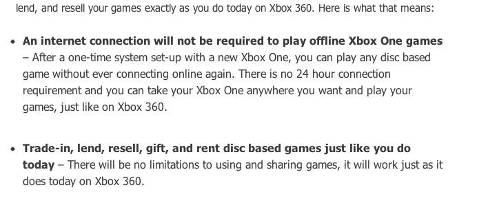 Microsoft anuncia cambios en la política de restricciones de Xbox One