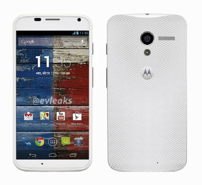 Imágenes del Moto X en color blanco