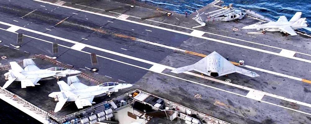 aterrizar un drone en un portaaviones