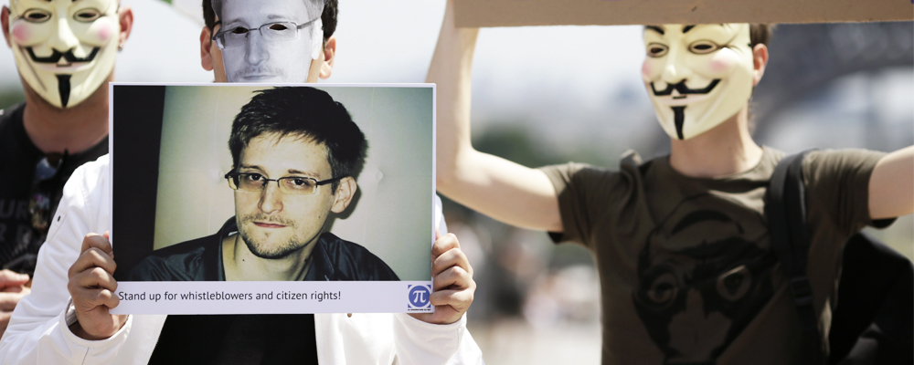 Anonymous apoya a Edward Snowden