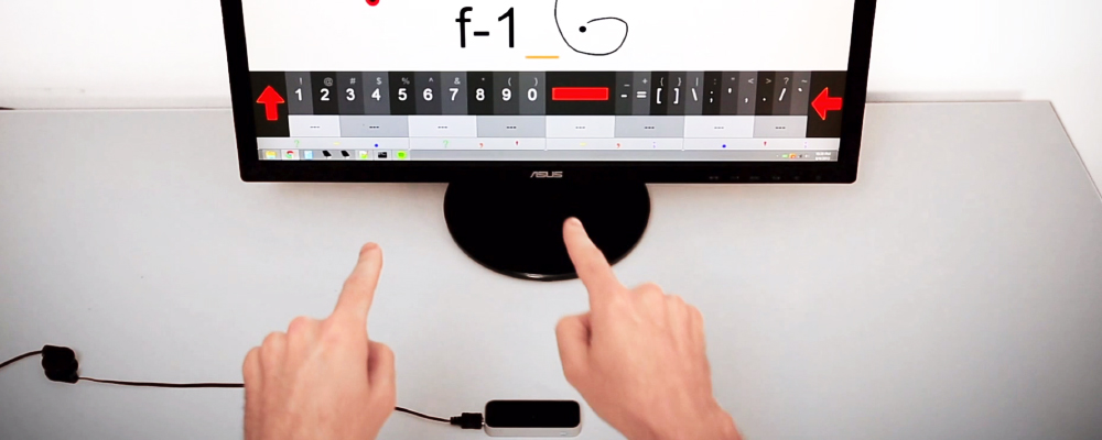 teclado virtual para Leap Motion