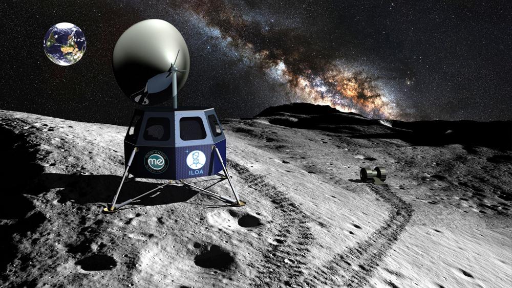 Telescopio en la luna