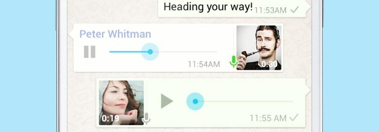 WhatsApp actualiza los mensajes de voz