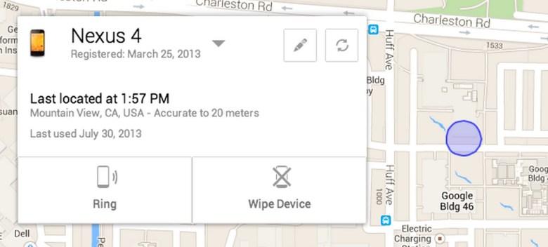 borrar un smartphone en remoto Android Device Manager