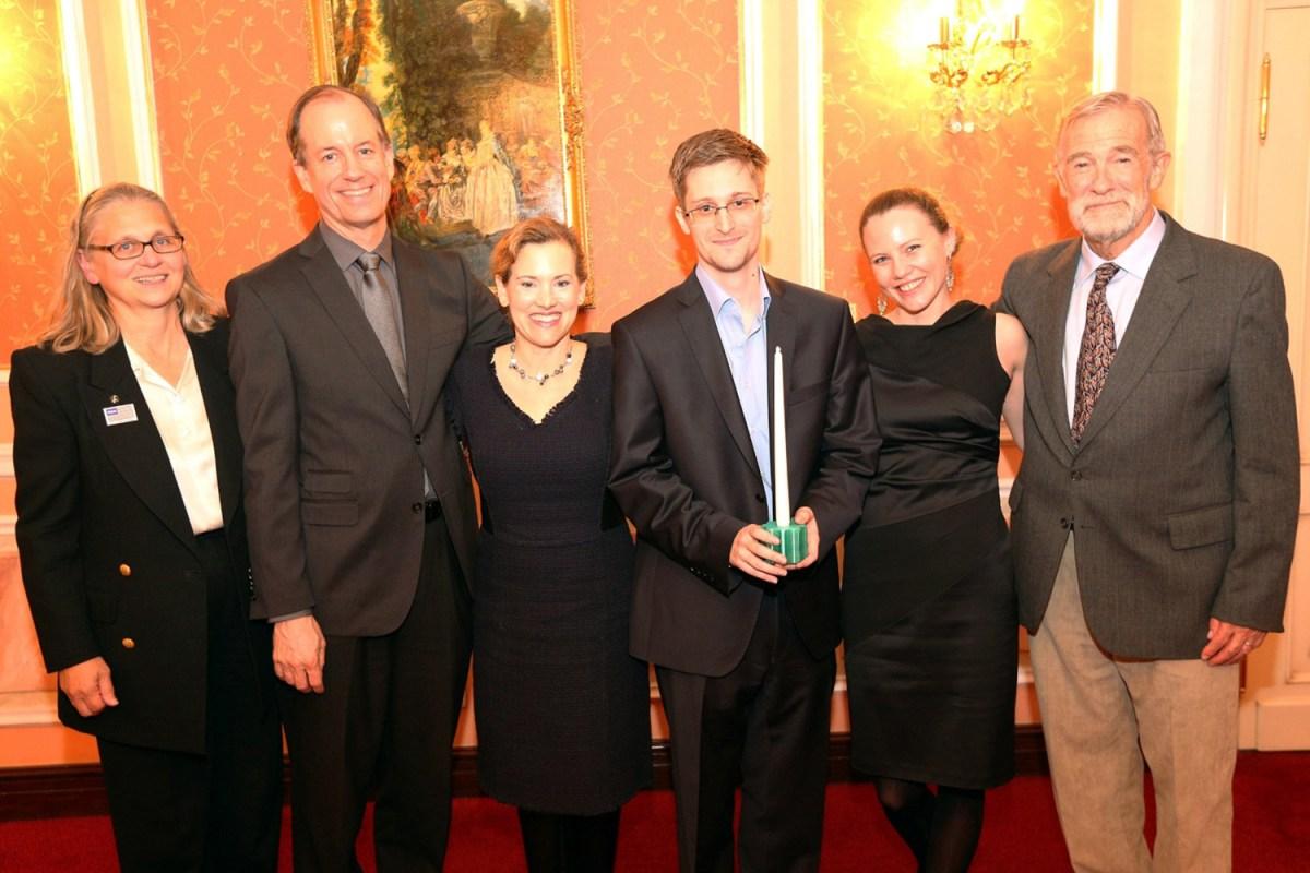 Edward Snowden Receives The Sam Adams Award
