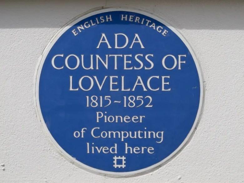 Placa conmemorativa Ada Lovelace