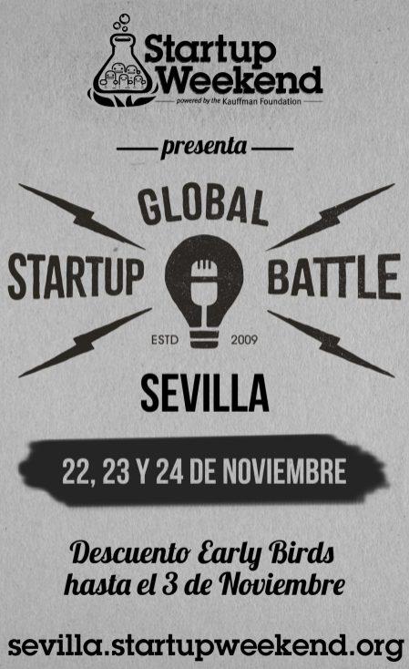 Cartel Startup Weekend Sevilla