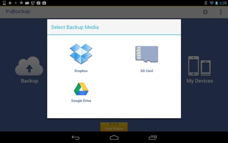 truBackup - copias de seguridad en Android