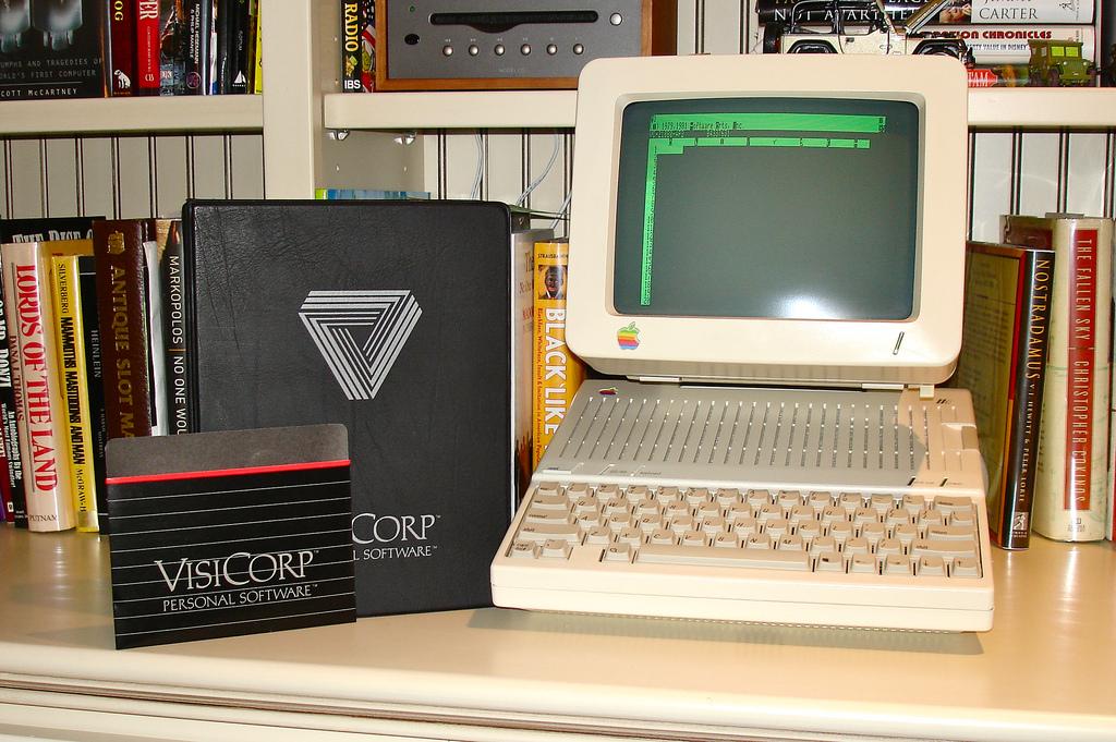 VisiCalc en un Apple II