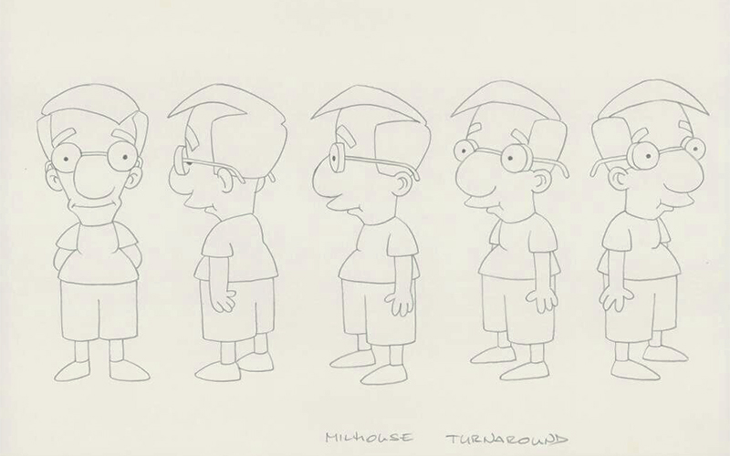 the simpsons bocetos
