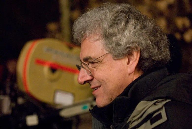 "Director Harold Ramis on the set of Columbia Pictures comedy ""Year One."""