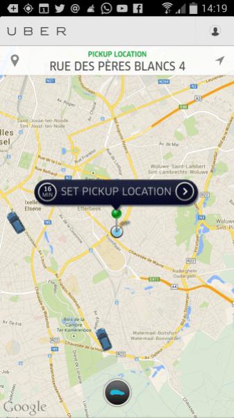 Uber Bruselas