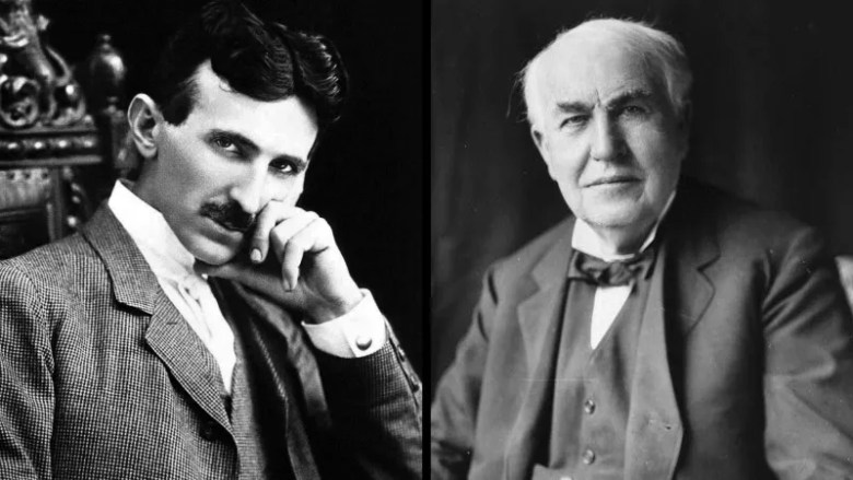 Tesla y Edison. [Do You Remember?](http://doyouremember.com/shocking-battle-edison-tesla/).