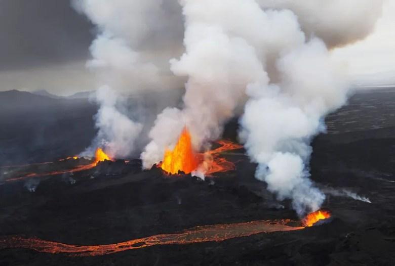 Erupción volcánica en Bardarbunga, Islandia. Foto de Ragnheidur Arngrimsdottir. National Geographic Photo Contest