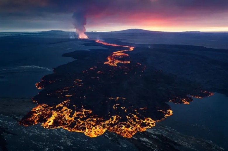 Magma en Islandia. Foto de Erez Marom. National Geographic Photo Contest
