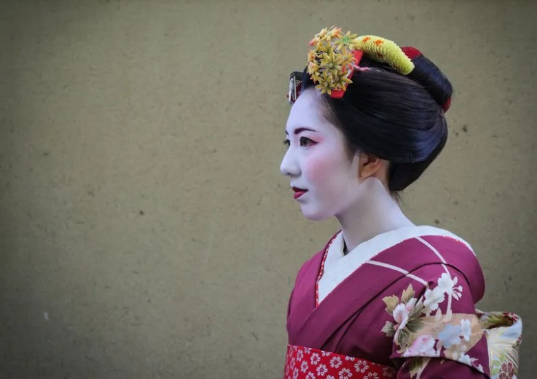 Geisha en Kyoto. Foto de Sian Bullough. National Geographic Photo Contest