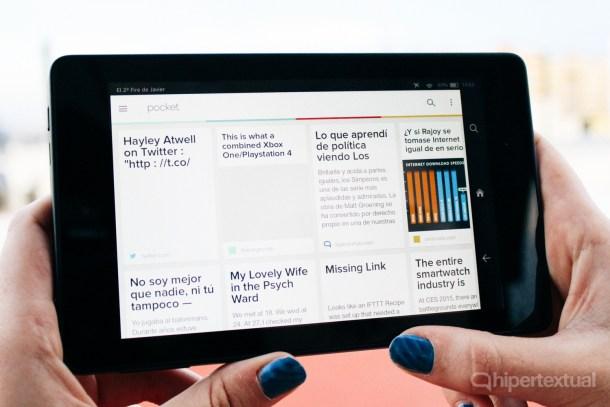 Kindle Fire HD 6, la tablet de Amazon con Android en su interior, pero sin los servicios de Google.
