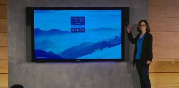 Surface Hub de Microsoft, presentada en 2015.
