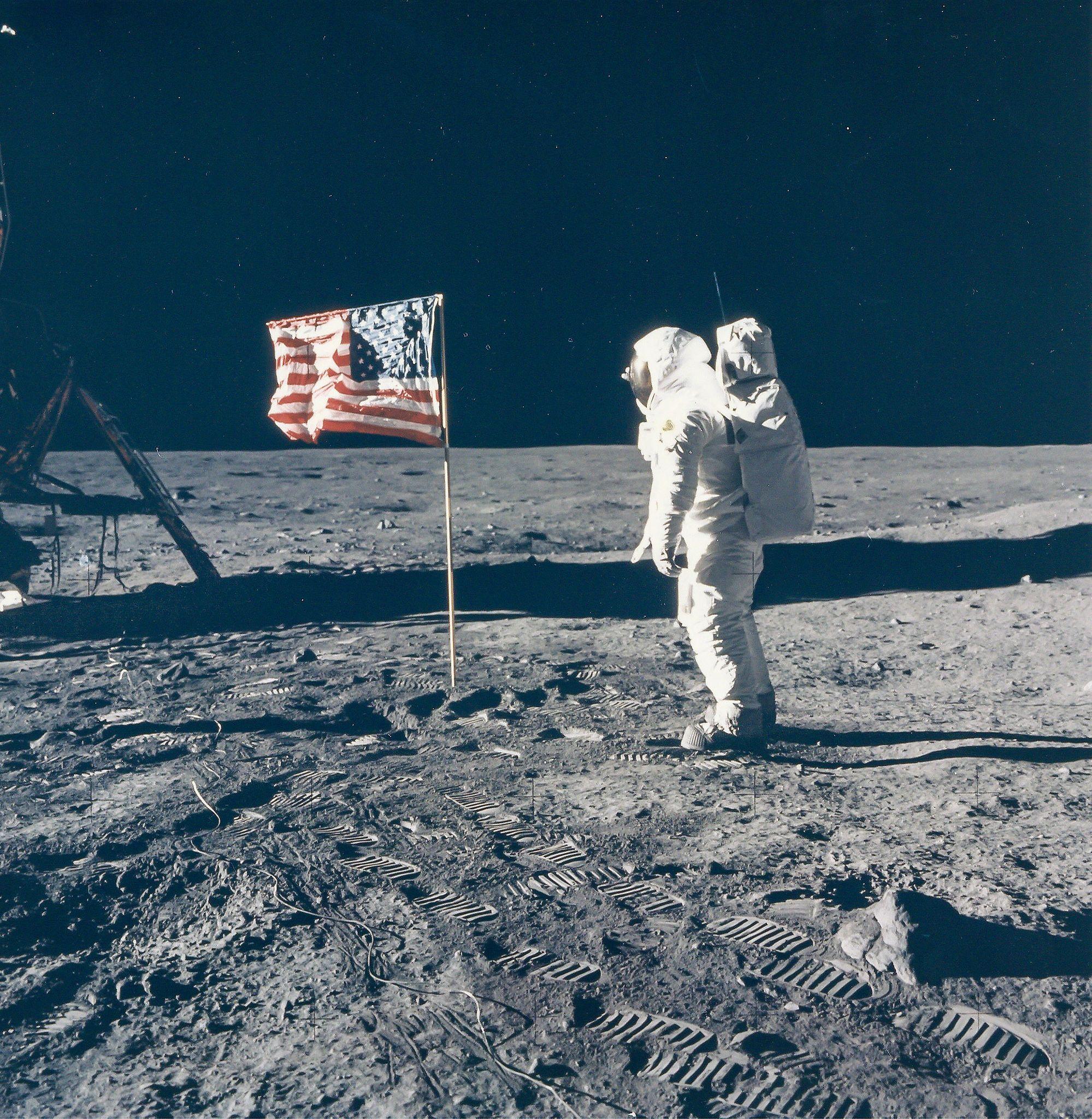 Huellas del hombre en la Luna