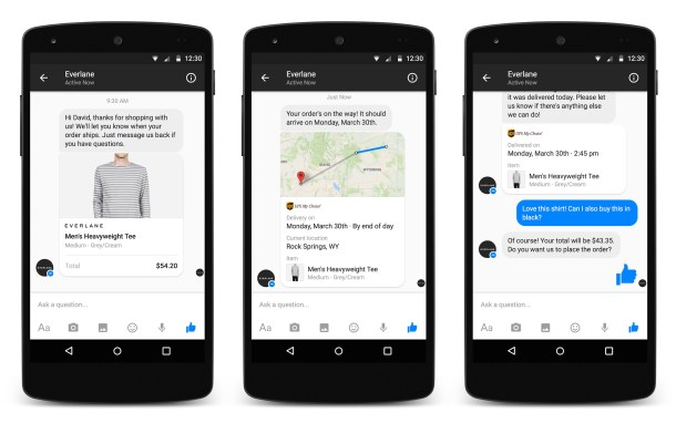 Businesses on Messenger