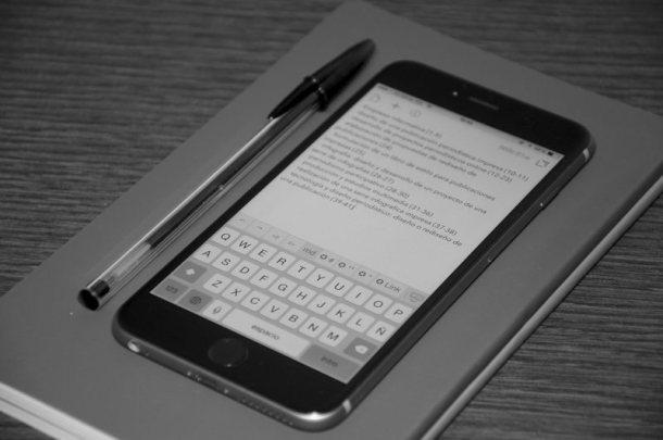 Drafts es mi aplicación preferida para escribir en iOS.