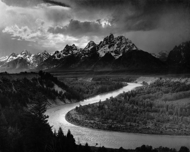"Ansel Adams ""The tetons and snake river"""