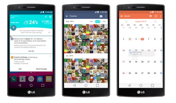 LG G4 UI