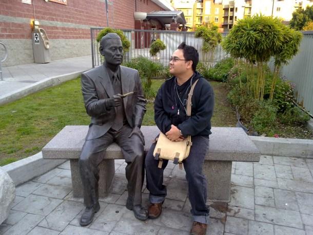 Monumento de Chiune Sugihara en la ciudad de Yaotsu, Japón. <a href=