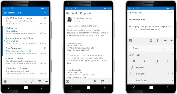 Outlook mail Windows 10
