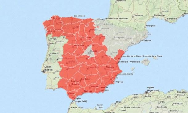 Regiones españolas con PIB per cápita debajo de la media nacional