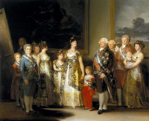 Retrato de la familia real antes del inicio de la Guerra de la Independencia. <a href=