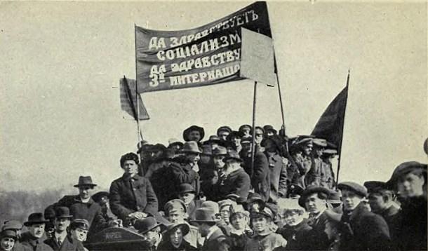 Manifestación bolchevique en julio de 1917. <a href=
