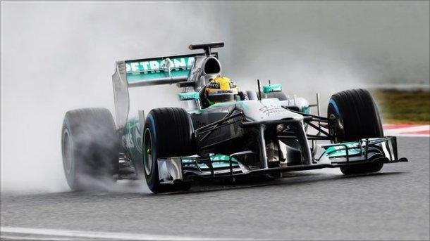 Monoplaza de Hamilton, actual líder de la clasificación por pilotos.