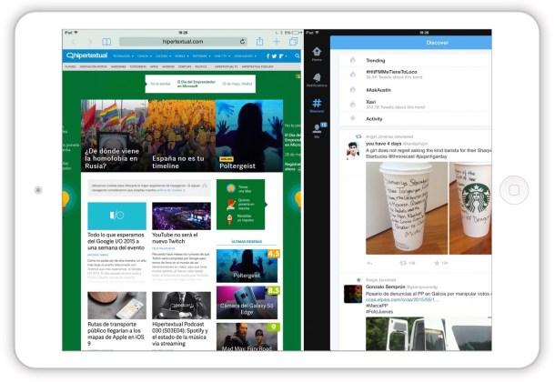 """El primer problema de mostrar dos aplicaciones a la vez es que hay que rediseñarlas e incorporar nuevas """"vistas""""."""