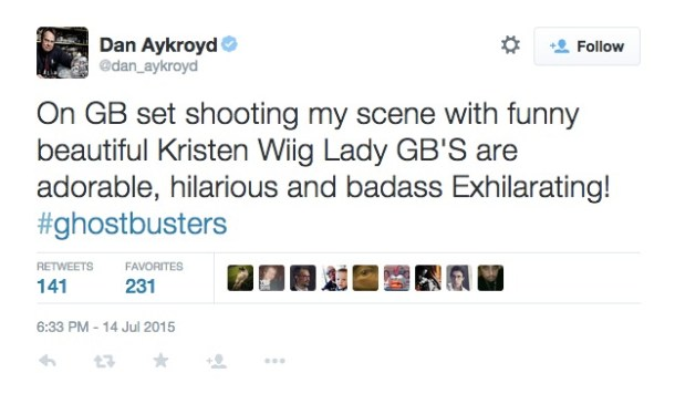 Twitter Dan Aykroyd