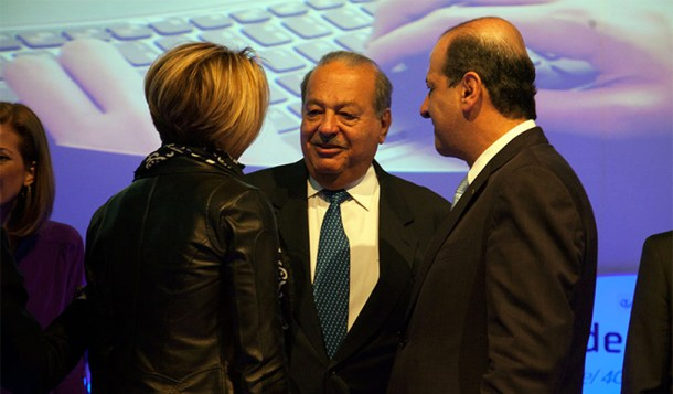 Carlos Slim junto a otros invitados de Aldea Digital 2015