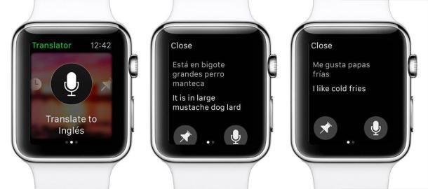 Microsoft Translator en el Apple Watch