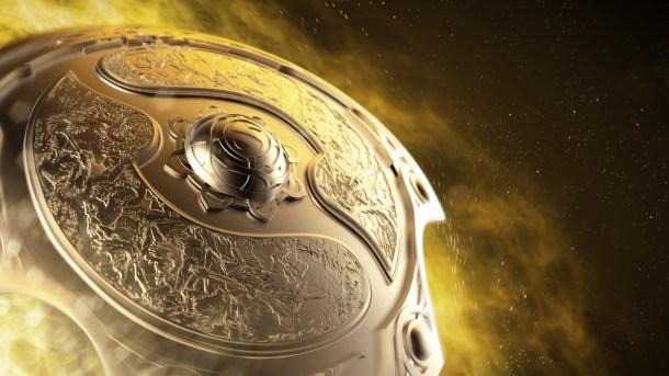 Representación del escudo que recibirá el equipo campeón. Es el Aegis que da Roshan al morir.
